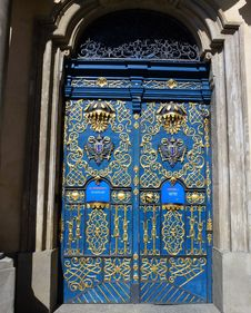 Free Blue, Iron, Gate, Architecture Stock Image - 117884821