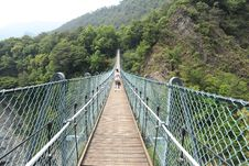Free Bridge, Suspension Bridge, Nature Reserve, Rope Bridge Stock Photos - 117885893