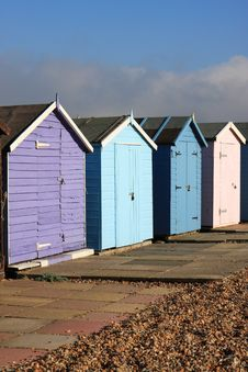 Free Beach Huts Royalty Free Stock Photo - 11795115
