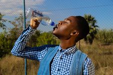 Free Photography Of A Man Drinking Water Stock Images - 117917444