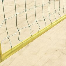 Free Yellow Volleyball Net Stock Image - 117917491