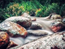 Free Time Lapse Photo Of River Flowing On Rocks Stock Image - 117989161