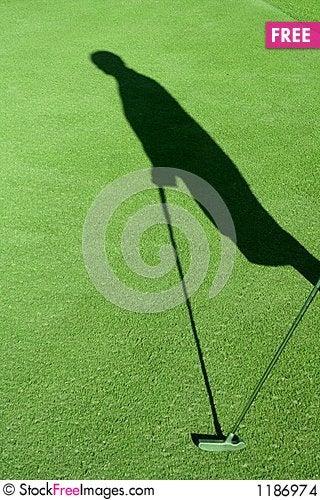 Golf Shadow Stock Photo