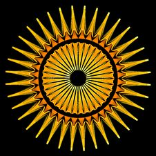 Free Orange Circular Pattern Stock Photos - 1180923