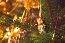 Free Christmas Tree Decoration Royalty Free Stock Photo - 1181195