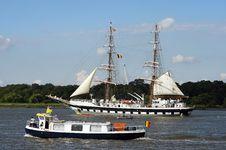 Free Parading Ships Royalty Free Stock Image - 1181636