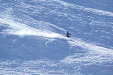 Free Mountain-skier On Flank Of Hill Stock Photography - 1182402