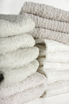 Face Cloths Stacked Stock Image