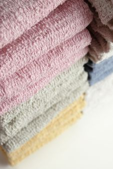 Free Face Cloths Stacked Royalty Free Stock Image - 1183476