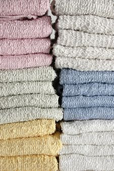 Free Face Cloths Stacked Stock Image - 1183481