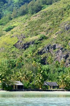 Tropical Beach Houses Stock Image