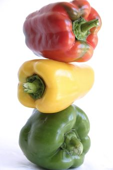 Free Stoplight Peppers Royalty Free Stock Photos - 1183638