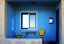 Free Chairs Outside The House, GREECE Stock Photography - 1184462