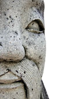 Free Smiling Asian Statue Isolated Stock Image - 1184691