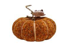 Fake Pumpkin On White Royalty Free Stock Photo
