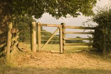 Free Gate In Evening Light Stock Image - 1188631