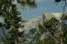 Free Half Dome Through The Trees Royalty Free Stock Photography - 1189267