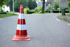 Free Red And White Traffic Cone On Road Stock Photo - 118041840