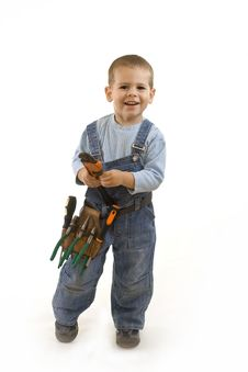 Free Little Construction Boy Stock Photography - 11816482