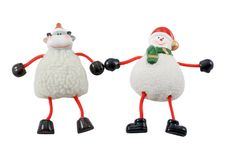Free Xmas Deer And Snowman Stock Photo - 11817860