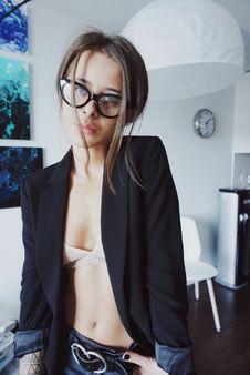 Free Woman In Black Blazer Taking Selfie Stock Photos - 118112183