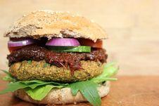 Free Veggie Burger, Hamburger, Vegetarian Food, Sandwich Stock Photos - 118154123