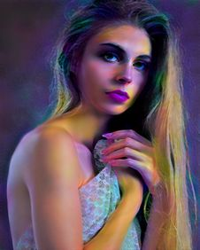 Free Beauty, Human Hair Color, Model, Purple Stock Photography - 118155282