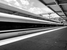 Free Train Station, High Speed Rail, Track, Transport Stock Image - 118155641