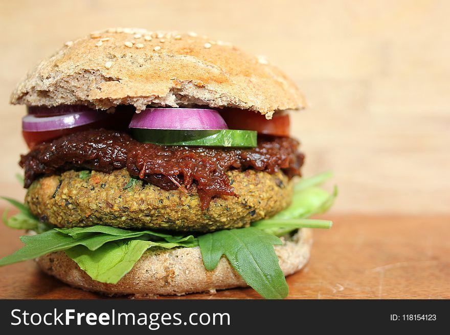 Veggie Burger, Hamburger, Vegetarian Food, Sandwich