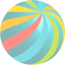 Rainbow Ball Design Royalty Free Stock Photo