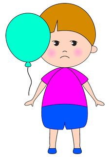 Free Sad Baby With Balloon Royalty Free Stock Image - 11826126