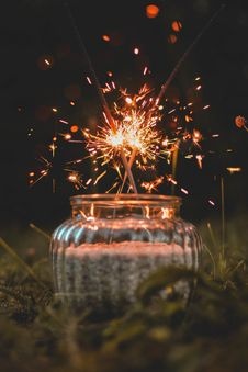Free Sparklers Royalty Free Stock Photography - 118221587