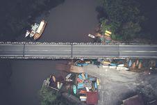 Free Aerial View Of Bridge Royalty Free Stock Photo - 118221615