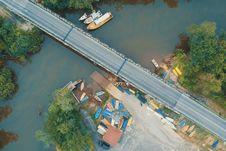 Free Aerial Photo Of Bridge Royalty Free Stock Photos - 118221618