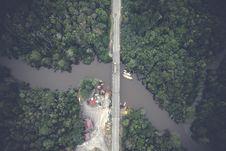 Free Aerial View Photography Of Gray Concrete Bridge Royalty Free Stock Photos - 118221678