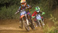 Free Two Dirt Bikers Royalty Free Stock Photos - 118221688