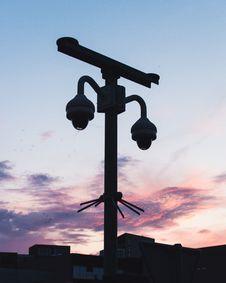 Free Silhouette Photo Of CCTV Stock Image - 118221721