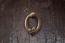 Free Wood, Door Knocker, Texture, Metal Royalty Free Stock Photography - 118242567