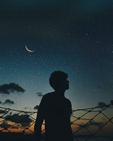Free Silhouette Of Man During Nighttime Stock Photos - 118290553