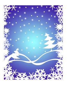 Free Christmas Background Blue Illustration With Christ Royalty Free Stock Photo - 11838725