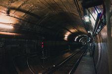 Free Black Train Rail Tunnel Stock Image - 118386191