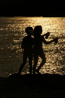 Free Water, Silhouette, Fun, Darkness Stock Photos - 118429953