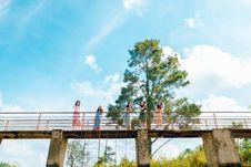 Free Landscape Photography Of People On Bridge Stock Image - 118464691