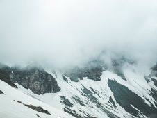 Free Glacier Mountain Surrounded By Fogs Stock Image - 118546031