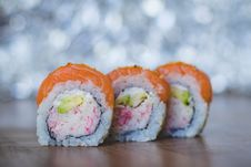 Free Close-Up Photo Of Three Sushi Stock Images - 118546124