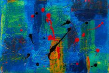 Free Blue, Green, Red, And Black Abstract Painting Royalty Free Stock Photography - 118598757
