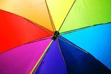 Free Multicolored Umbrella Royalty Free Stock Photo - 118598825