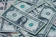 Free Photography Of One US Dollar Banknotes Royalty Free Stock Images - 118598999