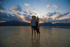Free Beach, Boats, Couple Stock Image - 118660551