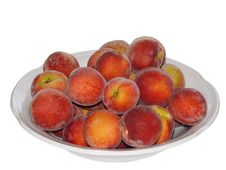 Ripe Peaches In Plate Royalty Free Stock Photography